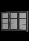 Rationel AURAPLUS BASIC Sidehængt m. 3 fag og 2 vandrette sprosser