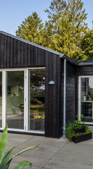 Moderne vinduer i naturen