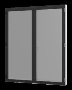 Rationel dobbeltfløjet vinduesdør. Fås i den træudgave eller som træ/alu. Vælg mellem en Basic variant med 2 lag glas eller vores Premium variant med 3- lag glas.