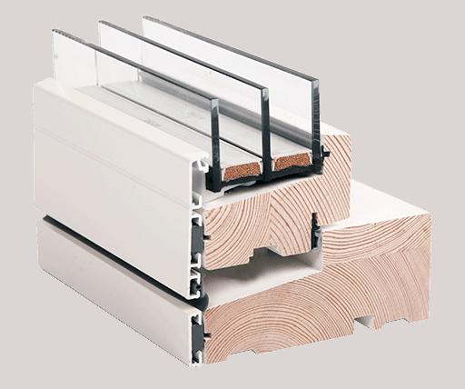 Tværsnit af vindue