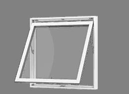 Hvide topstyrede vinduer