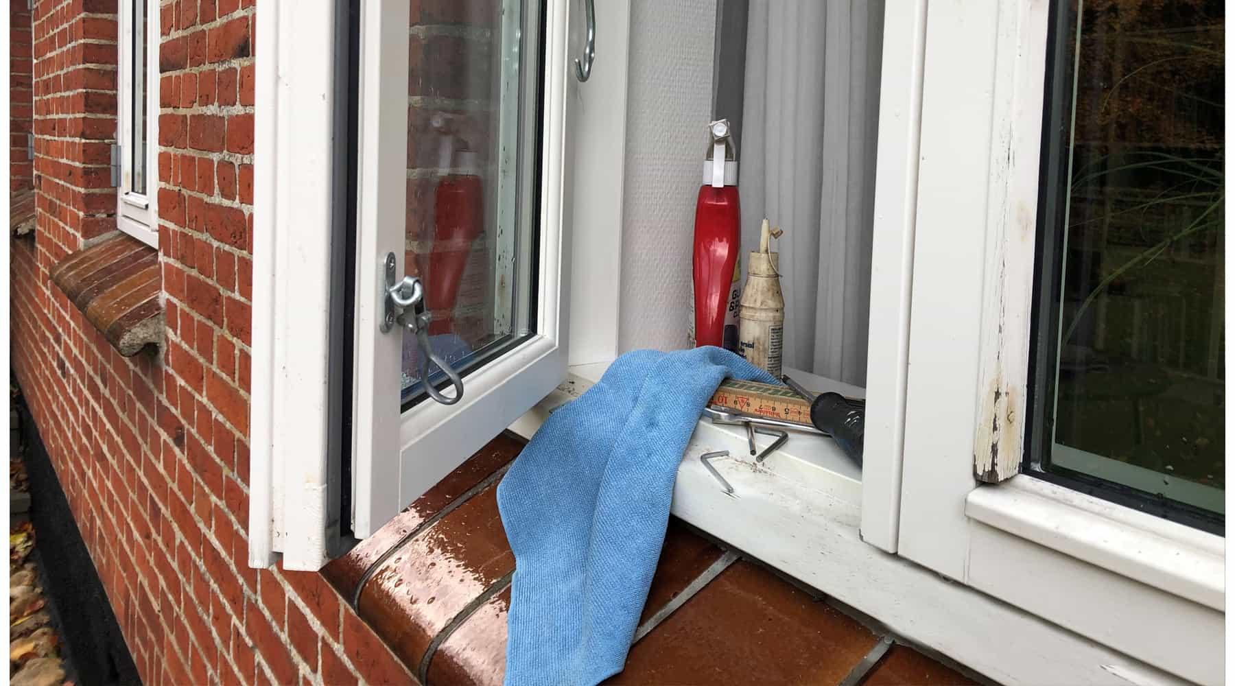 Klar til efterårsrengøring af vinduer