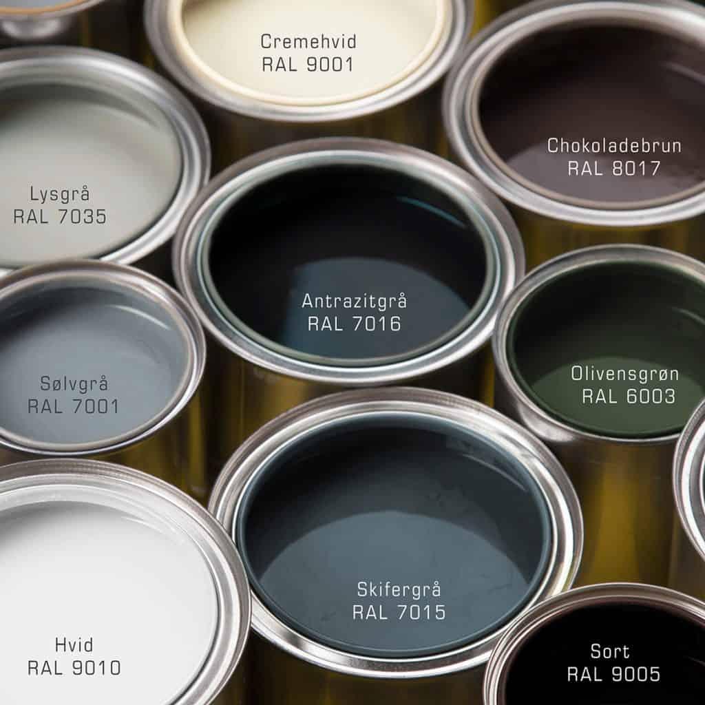 Vælg vinduesfarver